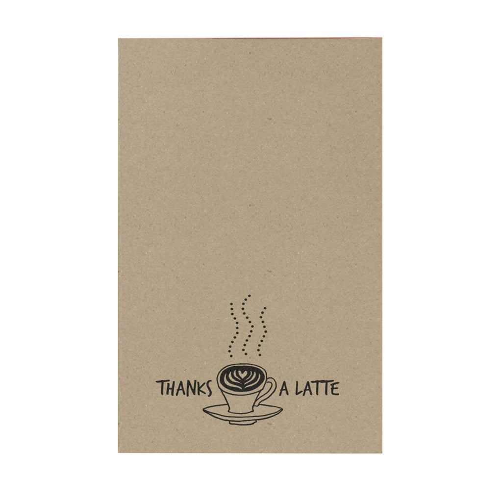 Thanks a Latte Notepad