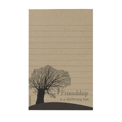 Friendship is a Sheltering Tree Notepad