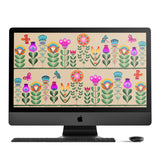 Mexican Blooms Desktop Wallpaper Bundle
