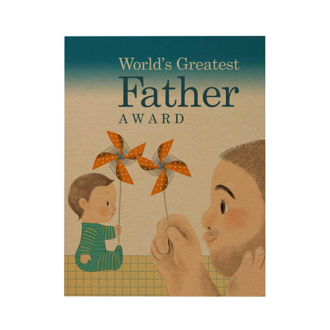 World's Greatest Father Award Greeting Card