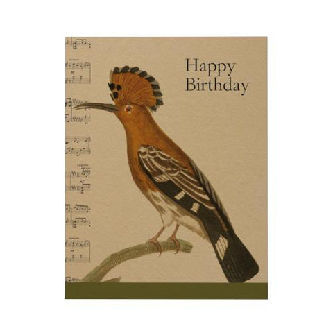 Happy Birthday Greeting Card: Hoopoe
