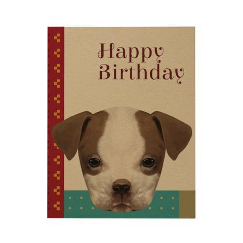 Happy Birthday Greeting Card: Puppy