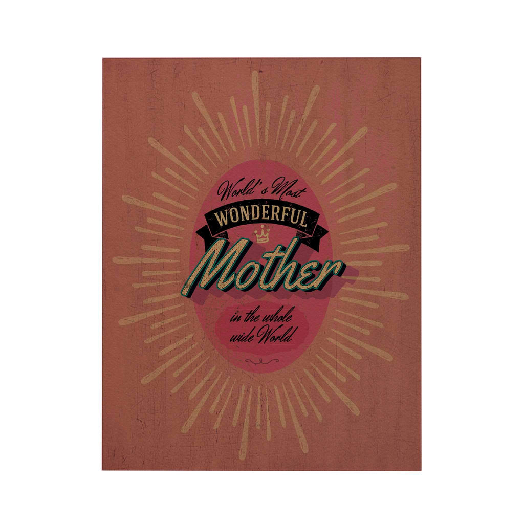 World's Most Wonderful Mother Greeting Card