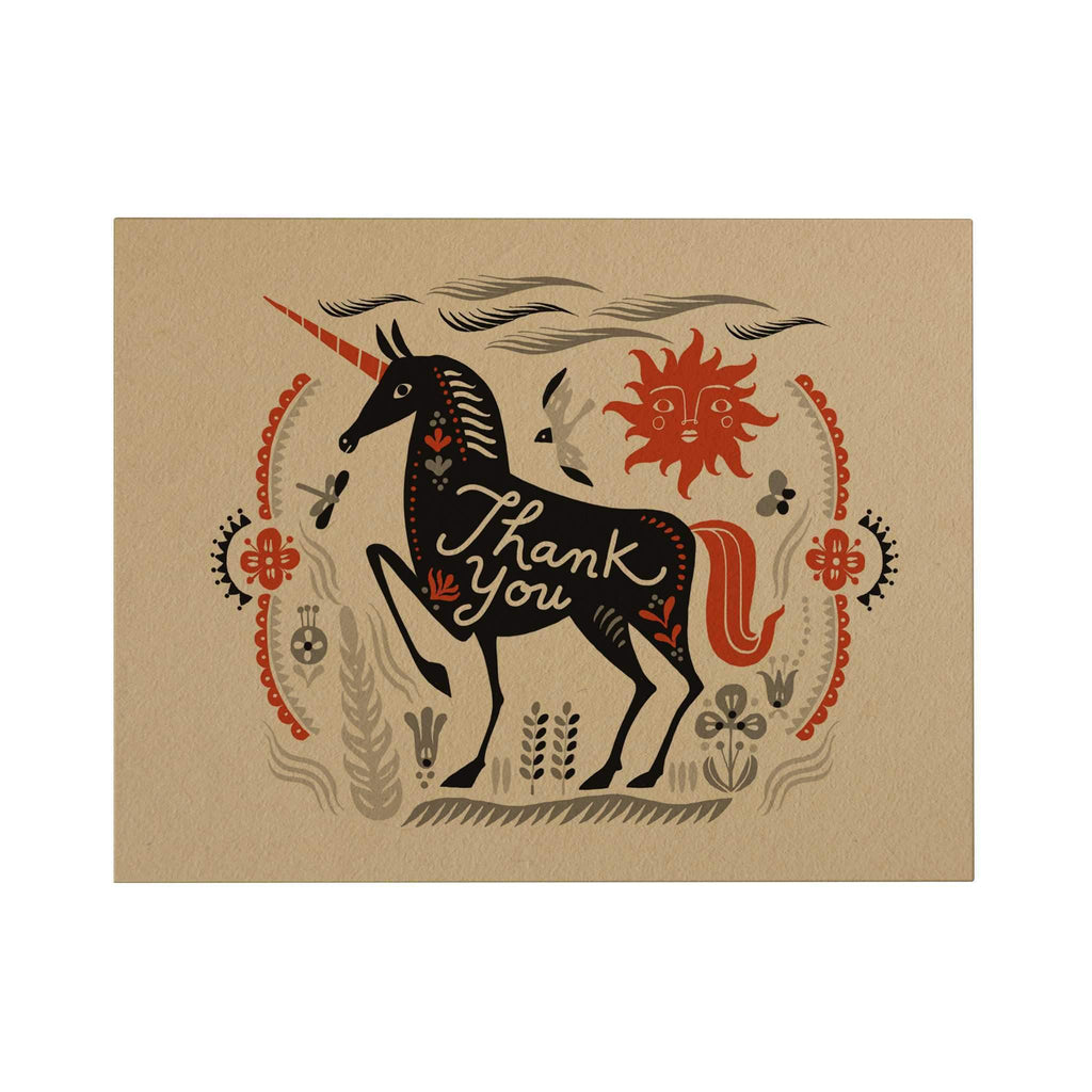 Thank You Greeting Card: Unicorn