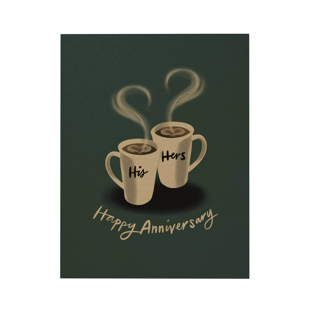 Happy Anniversary Greeting Card: His and Hers