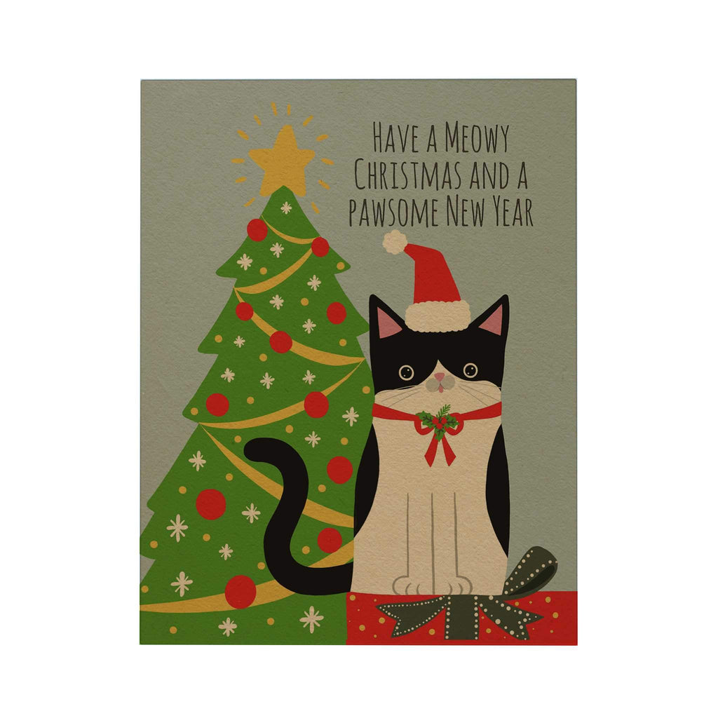 Pawsome: Have a Meowy Christmas Greeting Card