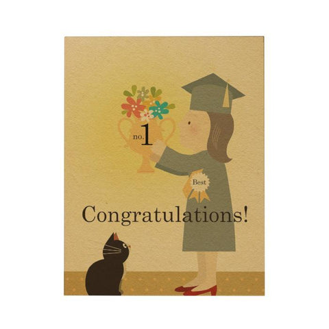 Congratulations Big Greeting Card: Female