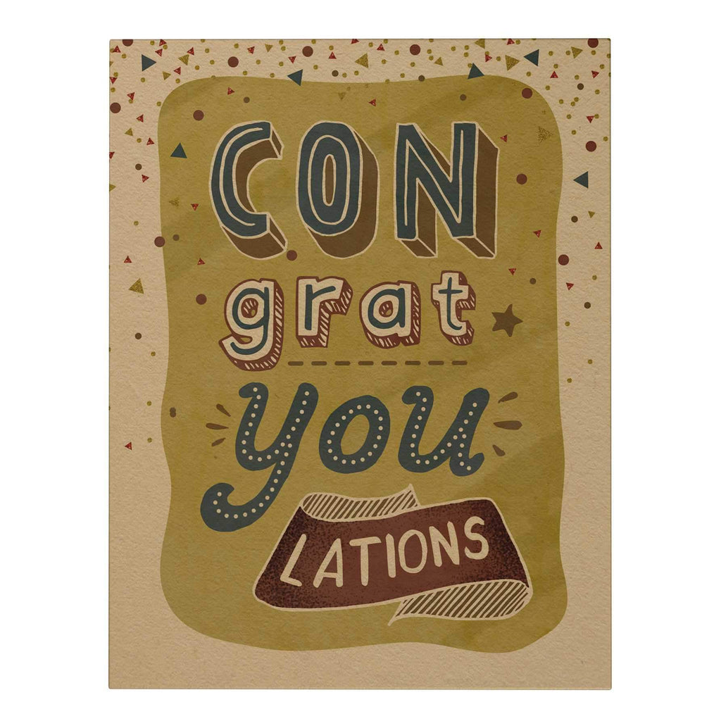 Con Grat You Lations Big Greeting Card