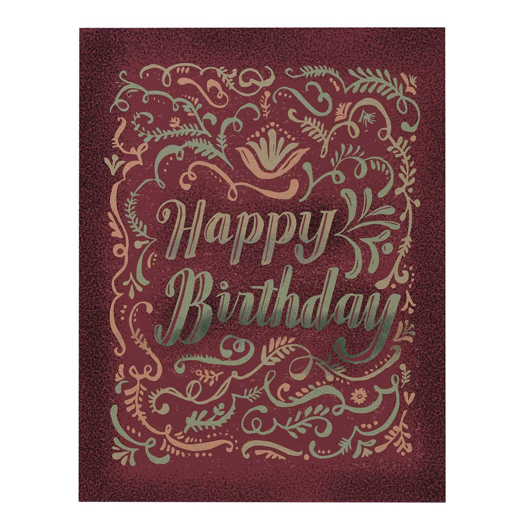 Happy Birthday Big Greeting Card: Flourish
