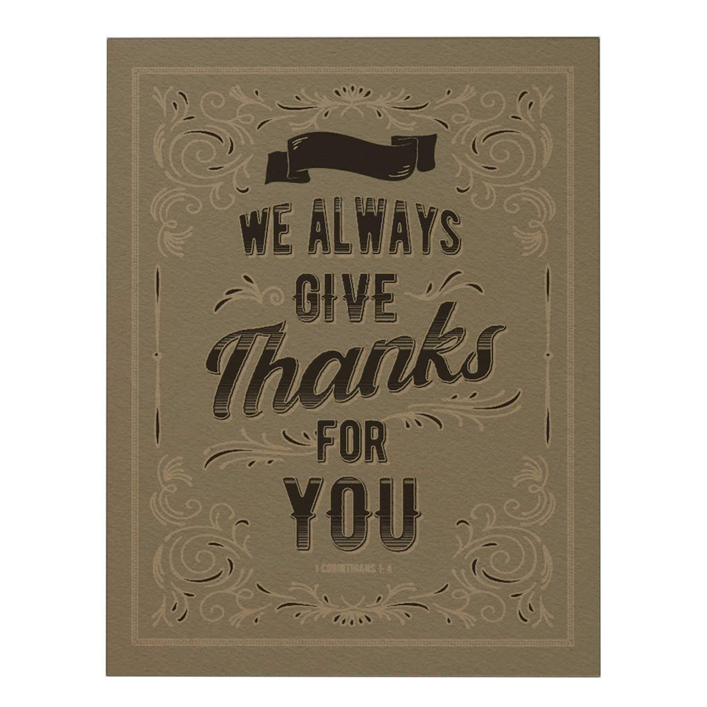 We Always Give Thanks Big Greeting Card