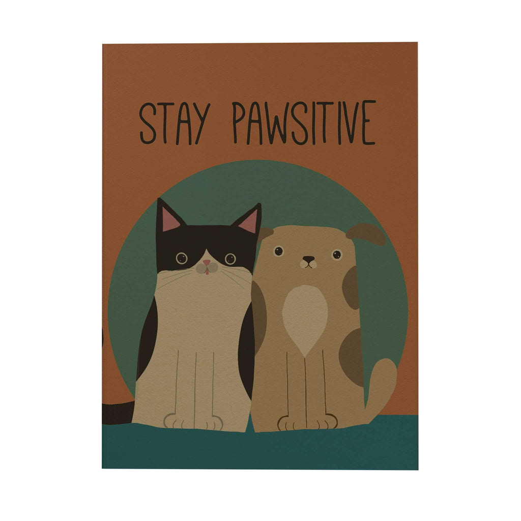 Pawsome: Stay Pawsitive Notebook