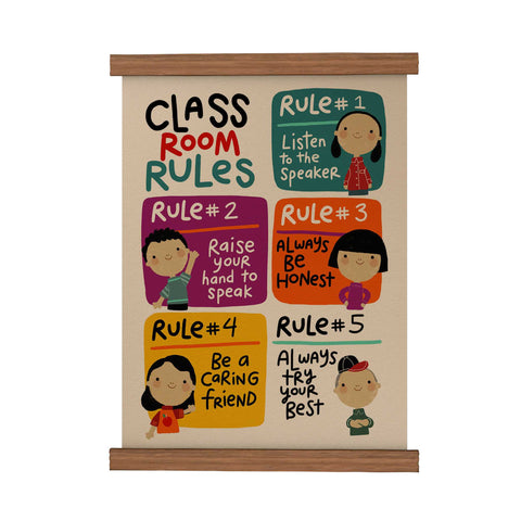 Classroom Rules Scroll Poster