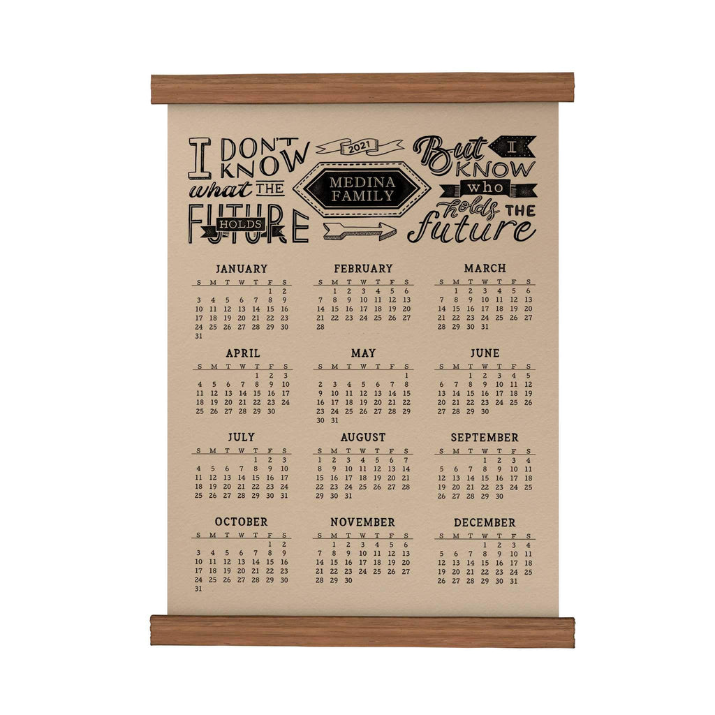 Holds the Future Personalized Scroll Calendar 2021