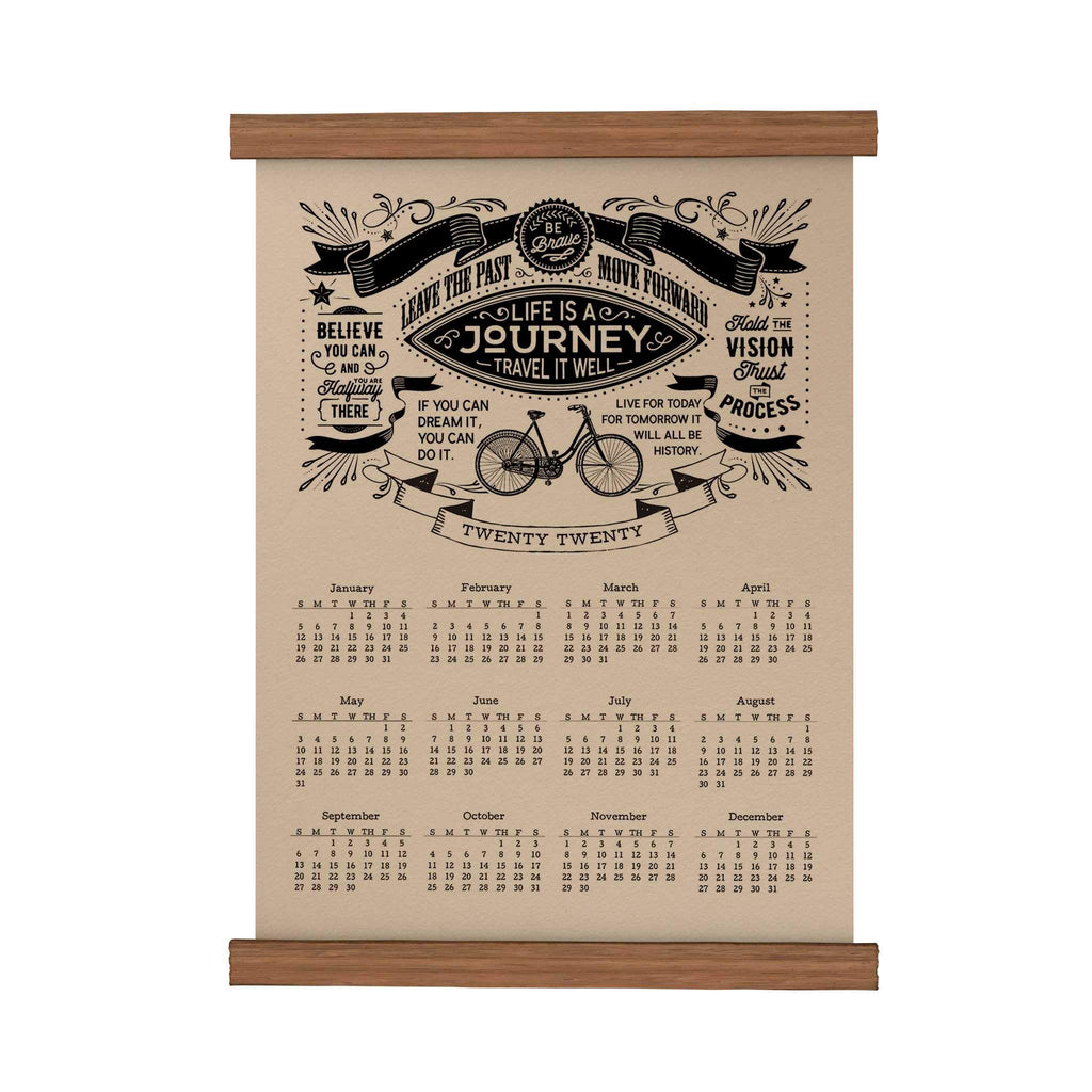 Life Is a Journey | Original Scroll Calendar | papemelroti