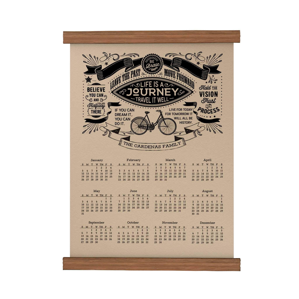 Life Is a Journey | Personalized Scroll Calendar | papemelroti