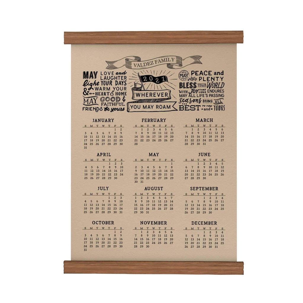 May Love and Laughter Personalized Scroll Calendar 2021