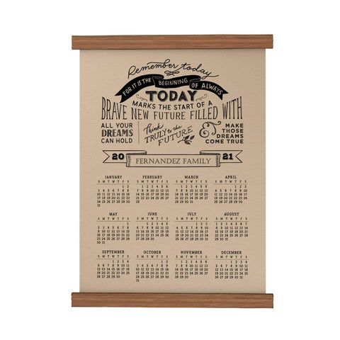 Remember Today Personalized Scroll Calendar 2021