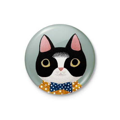 Kind Animal Cat Badge