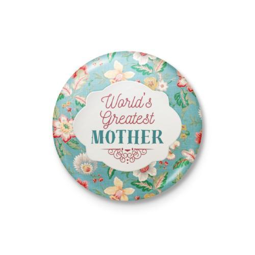 World's Greatest Mother Badge: Floral