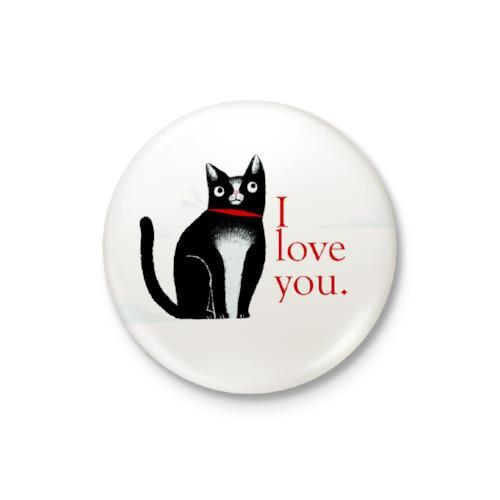 I Love You: Cat Badge