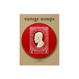 Vintage Philippine Stamps Badge: RP Postage