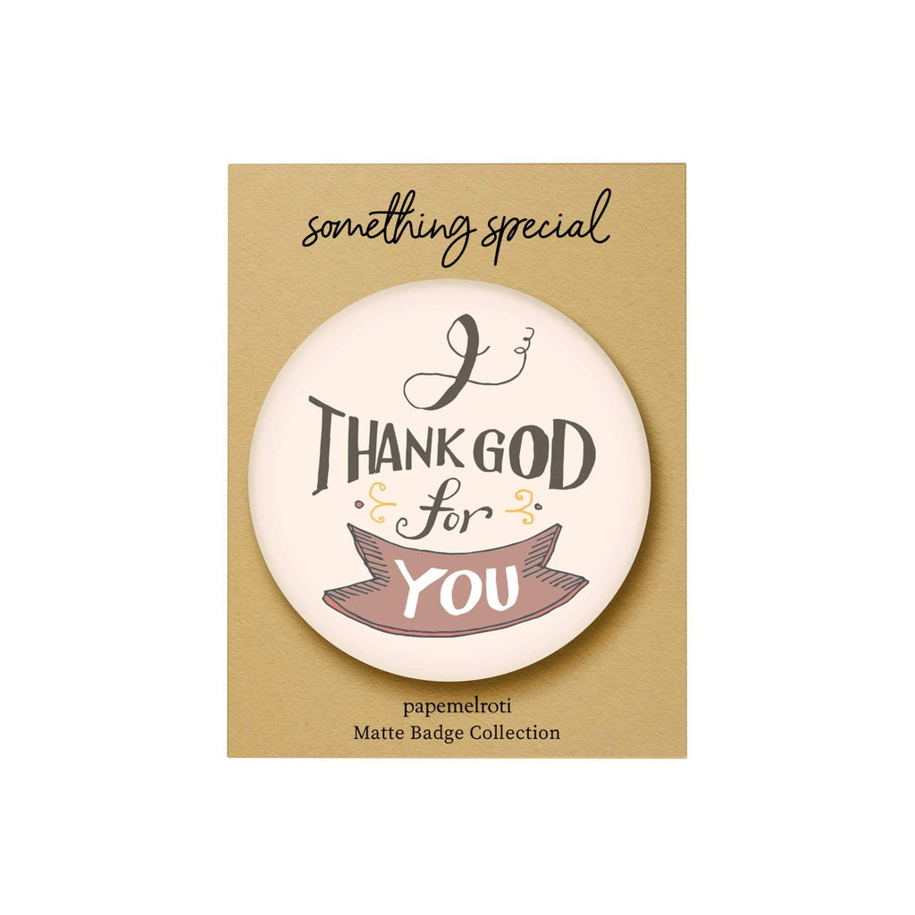 Words of Love Badge: I Thank God for You