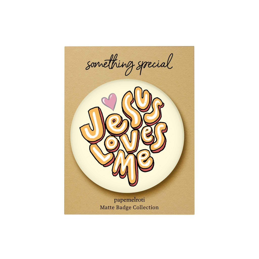 Words of Love Badge: Jesus Loves Me