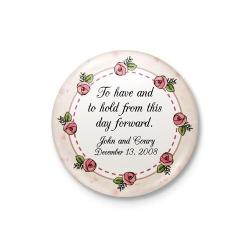 Pink Roses Personalized Badge