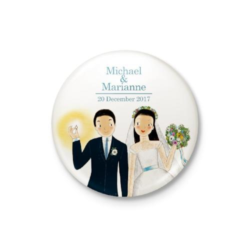 Wedding Couple Personalized Magnet