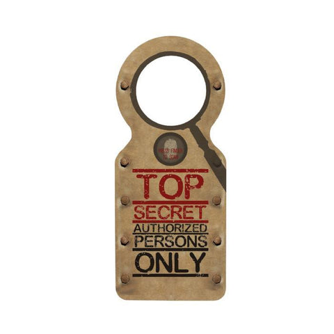 Top Secret Doorknob Hanger