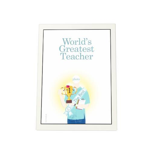 World's Greatest Teacher: Trophy Photo Plaque
