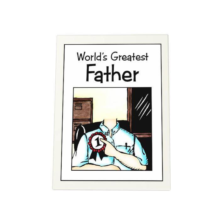 World's Greatest Father Photo Plaque