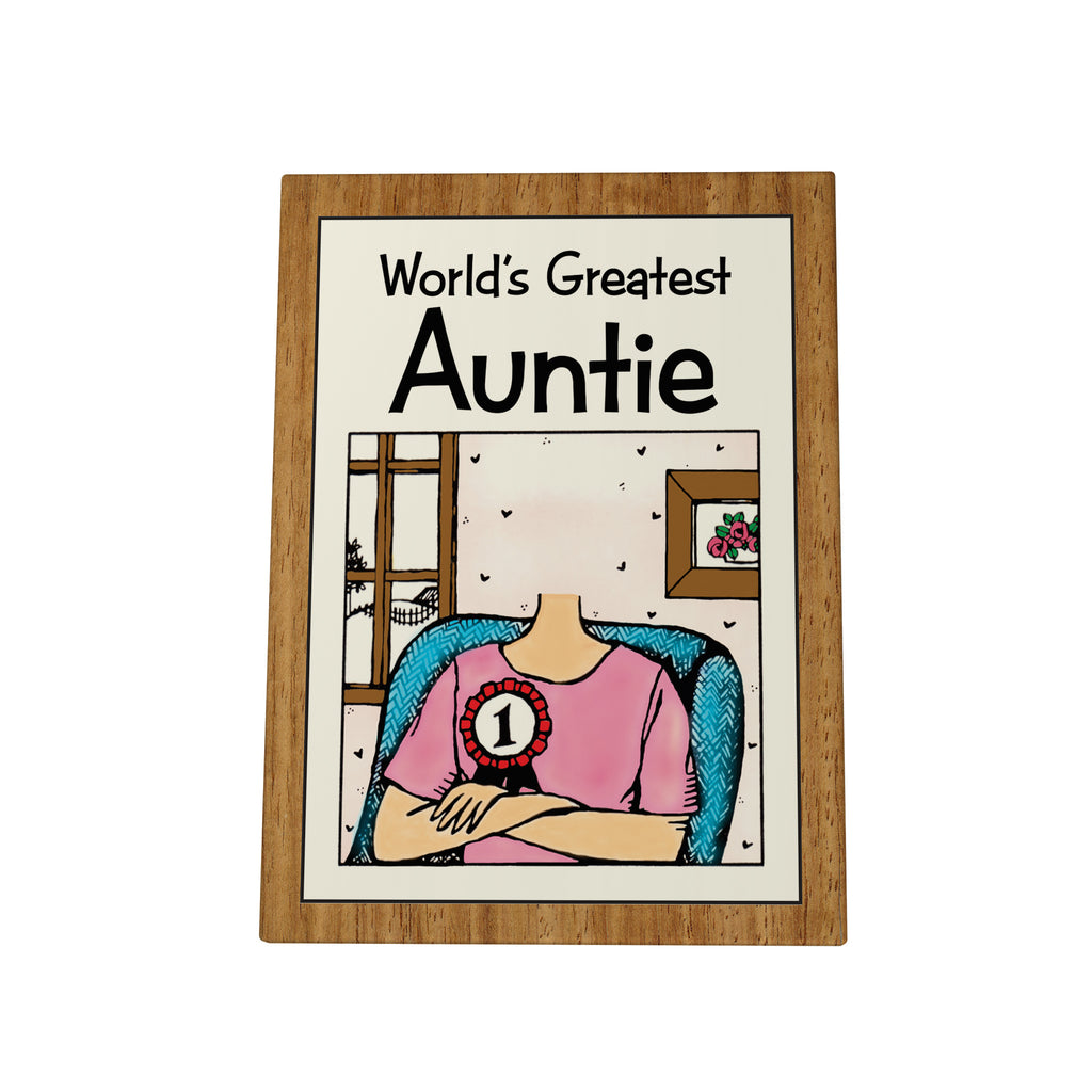 World's Greatest Auntie Photo Plaque