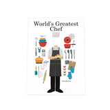 World's Greatest Chef Photo Plaque: Male