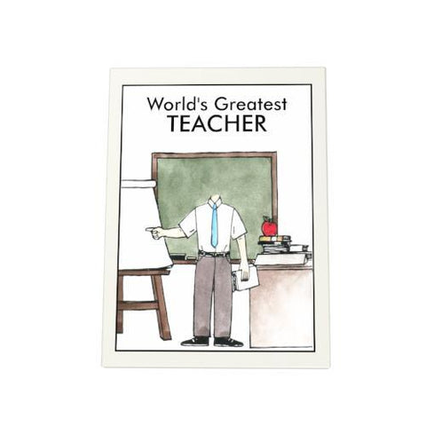 World's Greatest Teacher: Blackboard Photo Plaque