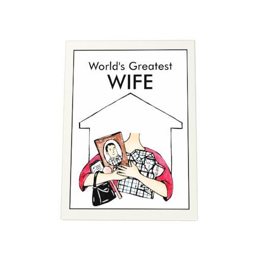 World's Greatest Wife Photo Plaque