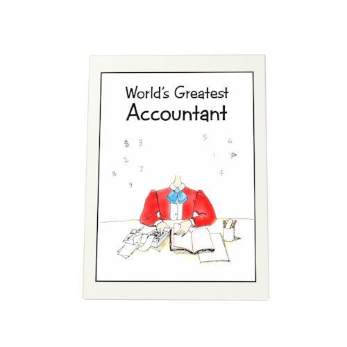 World's Greatest Accountant Photo Plaque