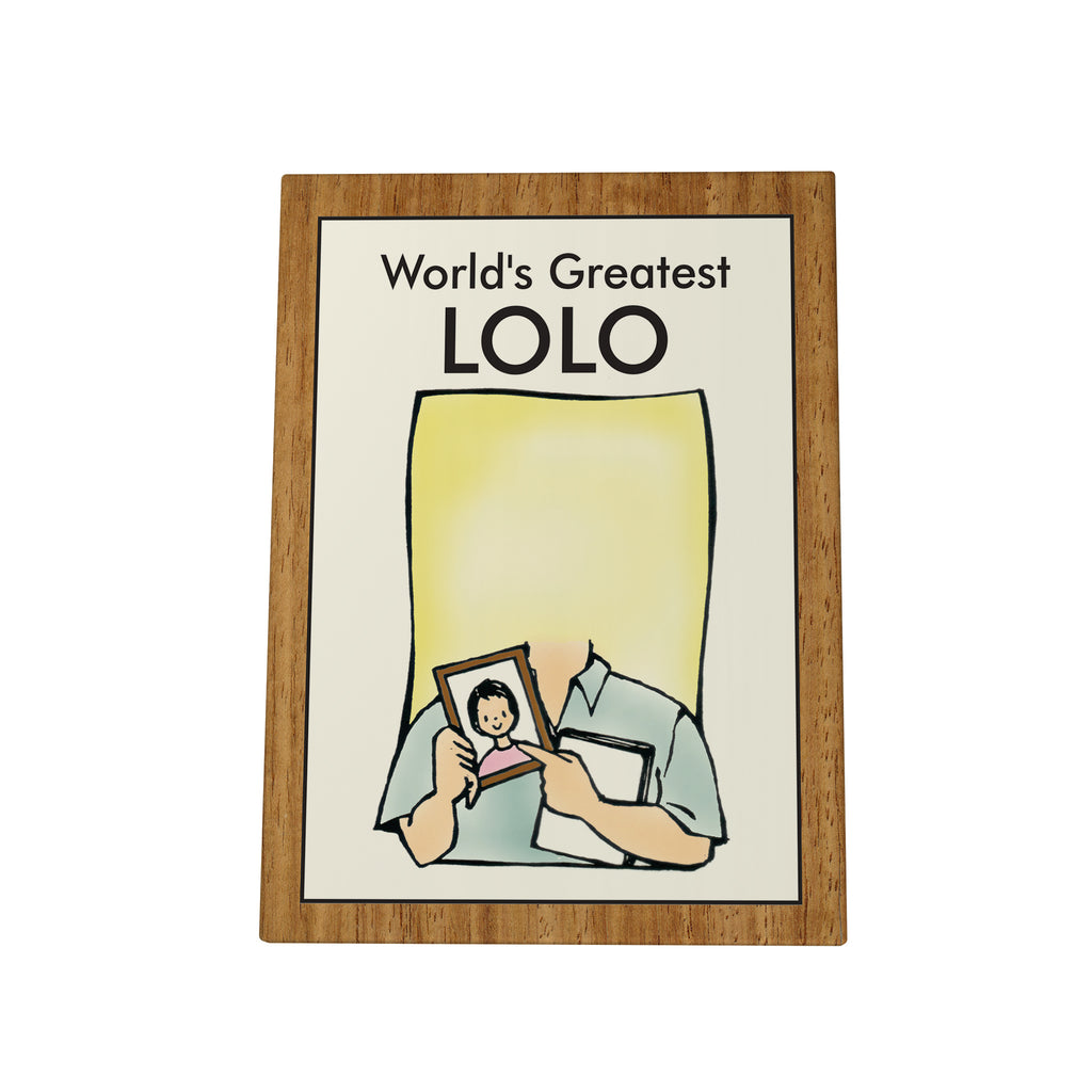 World's Greatest Lolo Photo Plaque