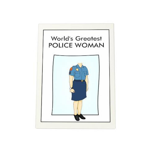 World's Greatest Policewoman Photo Plaque