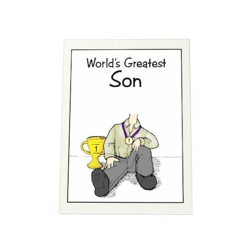 World's Greatest Son Photo Plaque