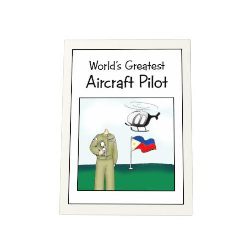 World's Greatest Aircraft Pilot Photo Plaque