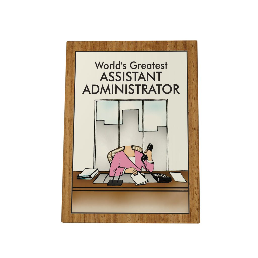 World's Greatest Assistant Administrator Photo Plaque