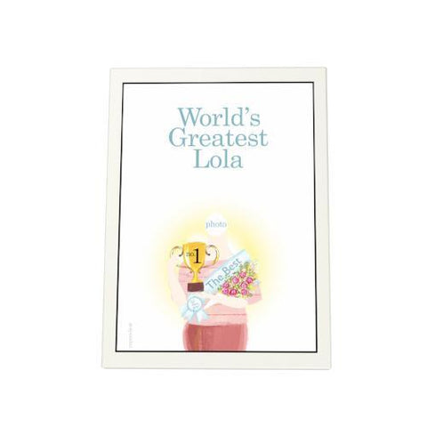 World's Greatest Lola: Trophy Photo Plaque