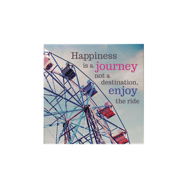 Happiness is a Journey Magnet