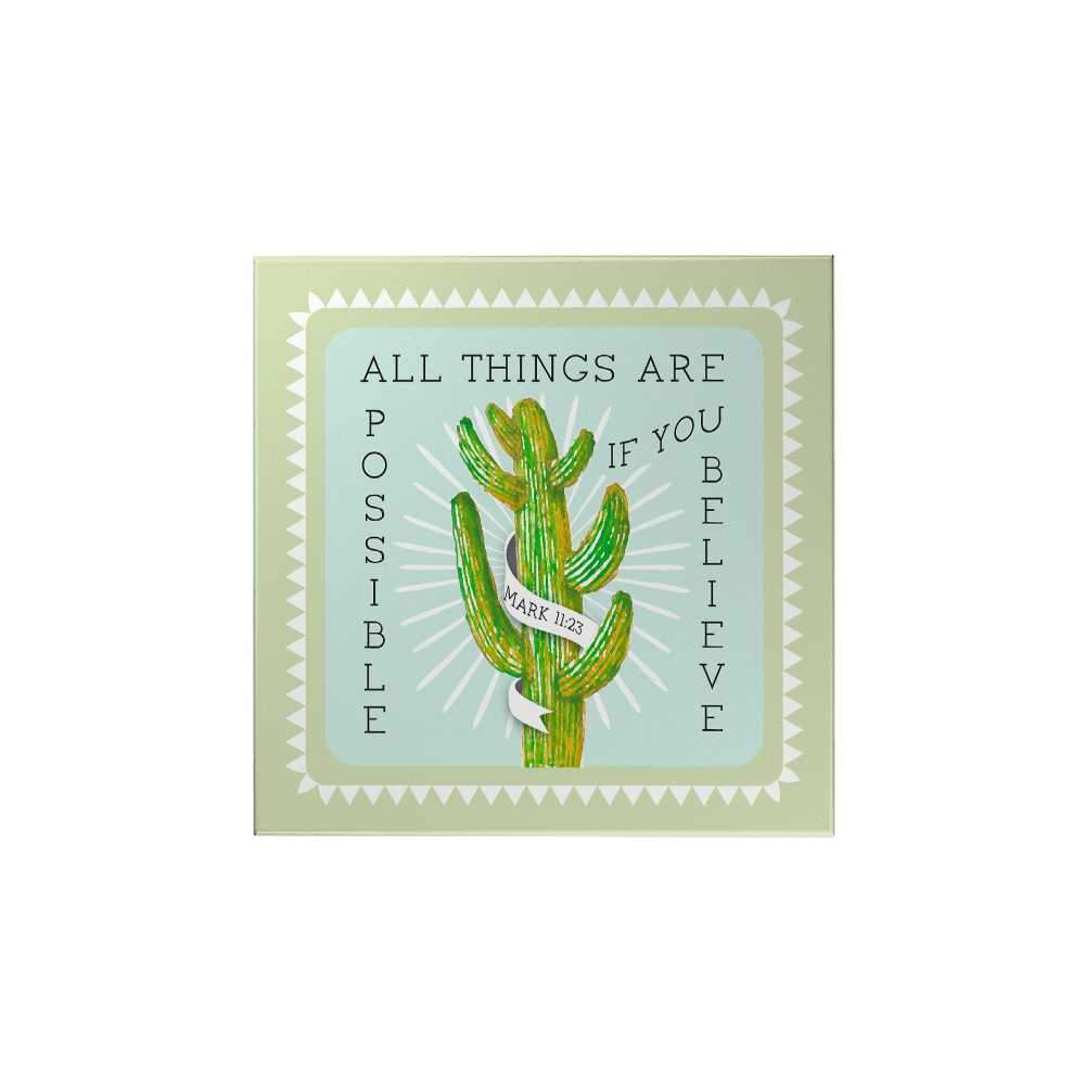 Bloom and Grow: All Things Are Possible Magnet