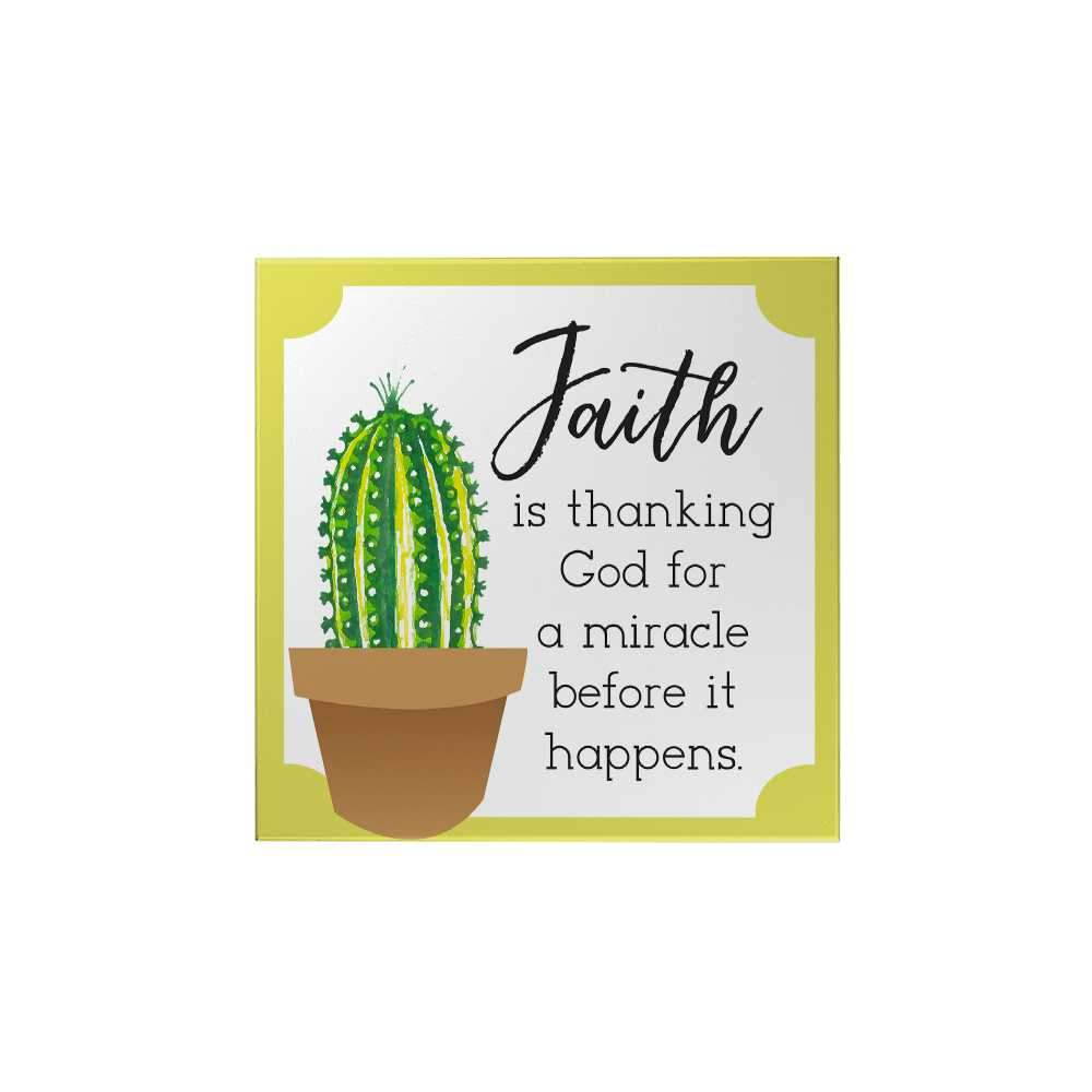 Bloom and Grow: Faith Is Thanking God Magnet