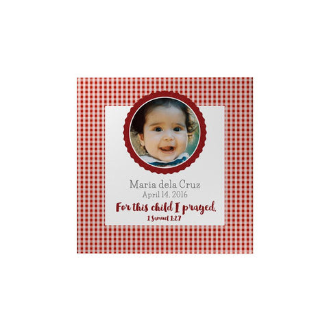 Checkered Personalized Magnet