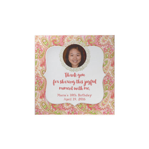 Pink Paisley Personalized Magnet