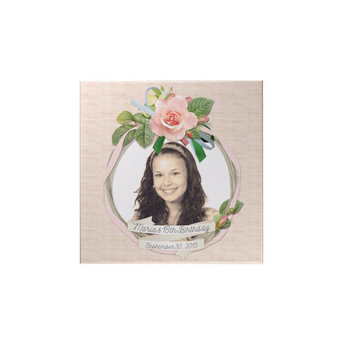 Pink Rose Personalized Magnet