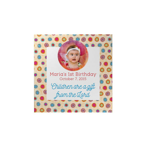 Polka Dots Personalized Magnet